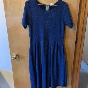 Lularoe L Amelia dress, navy blue